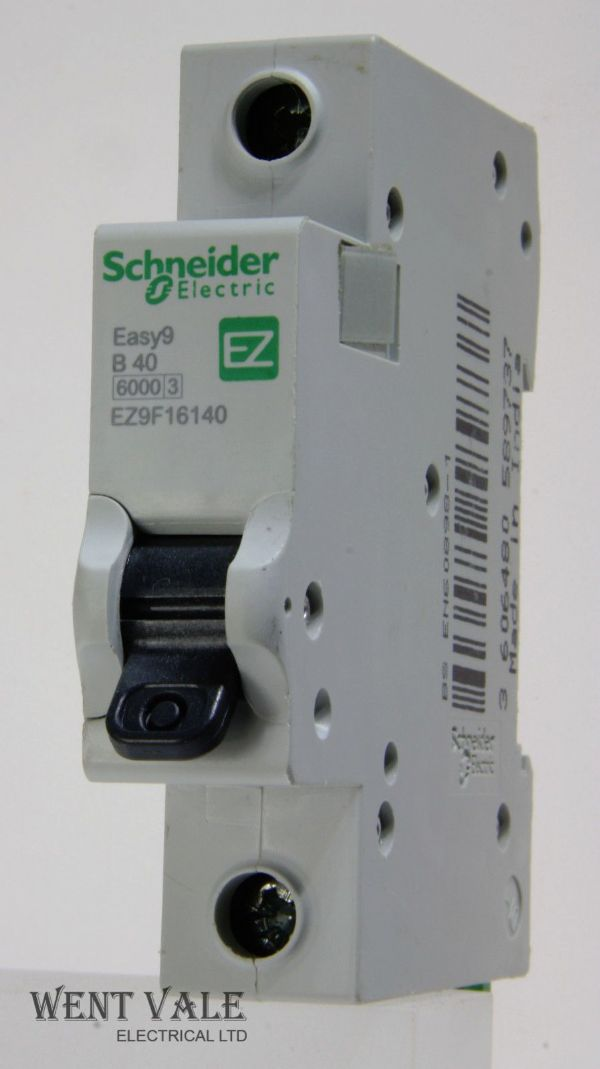 Schneider Easy 9 - EZ9F16140 - 40a Type B Single Pole MCB Used